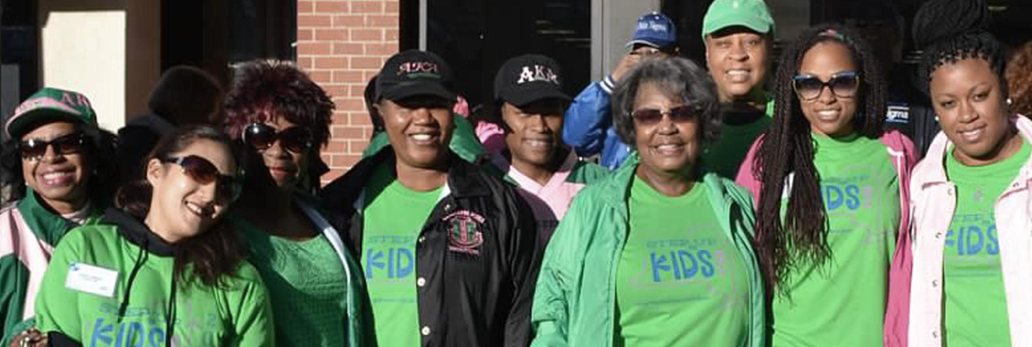 Volunteer Group outside of WIHD building